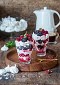 Eton Mess with frozen berries (England)