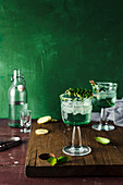 Drink with gin and tonic