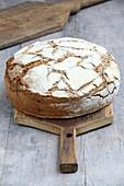 Sourdough bread on a wooden cutting board
