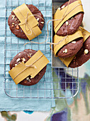 Chocolate and peanut cookies