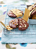 Chocolate and peanut cookies