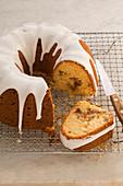 Orange Bundt cake with icing