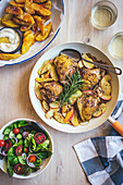 Chicken with Apples and Mustard