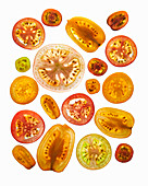 Various tomato slices