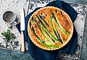 Green asparagus quiche