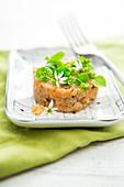 Trout tartare with winter purslane