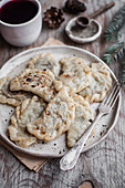 Polish cabbage and mushroom dumplings
