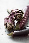 Artichokes and aubergines