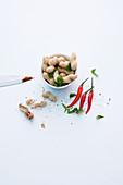 Ingredients for satay skewers