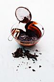 Schokoladen-Kakao-Glasur