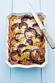 Moussaka with aubergines