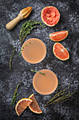 Pink Grapefruit Cocktail with Thyme