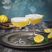 Whisky Sour with Thyme and Lemons