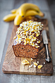 Vegan chocolate and banana cake