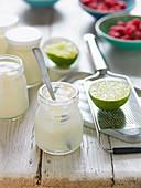 Joghurt mit Limetten