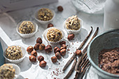 Chocolate hazelnut triffles with vanilla