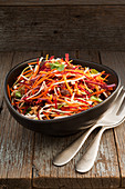 Beetroot and carrot slaw