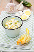 Zucchini and egg spread