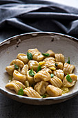 Gnocchi made from mashed potatoes with sage butter