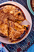 Flambéed orange cream tartlets