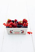 Fresh berries in a cardboard punnet