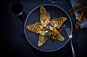 Grilled pears with Roquefort cheese