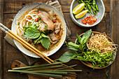 Spicy beef noodle soup (Vietnam)