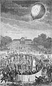 First Launch of Unmanned Hydrogen Balloon, 1783