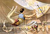 Circus Trapeze Act, 1890