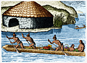 Native Americans Transporting Crops, c. 1500s