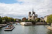 Ile de la Cite with Notre Dame cathedral