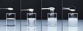 Potassium carbonate and HCl