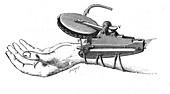 Engraving of Marey's Sphygmograph, 1861