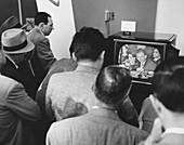 Crowd Watching McCarthy Hearings, 1954