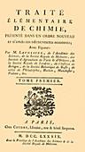 Lavoisier's Chemistry Treatise, 1789