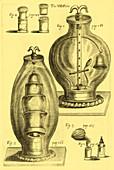 Robert Boyle's Experimental Air Pumps, 1669