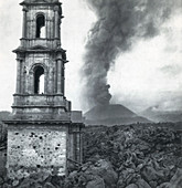 Paricutin Eruption, 1943