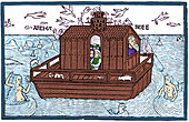 Noah's Ark with Merfolk, 1493