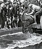 Prohibition, Dumping Kegs of Liquor, 1920