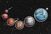 Formation of Moon, Illustration