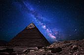 Great Pyramid Buddha and Milky Way