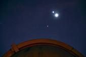 Venus, Jupiter and Mars in Leo