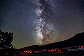 Milky Way and Mars near Galactic Center
