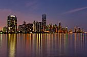 Miami Skyline at twilight, USA