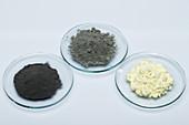 Iron, sulphur and their mixture