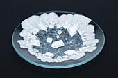Salt evaporation residue