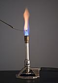 Flame Test for Barium Using Platinum Wire