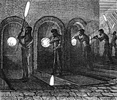 Glassblowing Factory, 19th Century