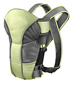 Cloth baby carrier, illustration