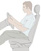 Good posture, illustration